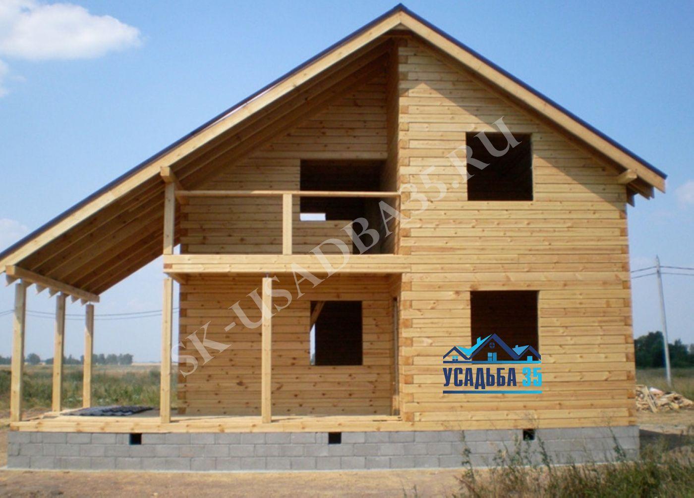 Строительство дома бруса